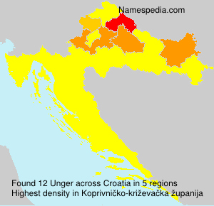 Surname Unger in Croatia