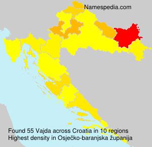 Surname Vajda in Croatia