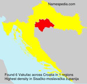Familiennamen Vakufac - Croatia