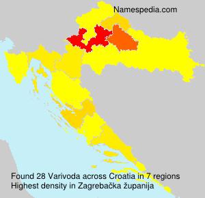 Surname Varivoda in Croatia