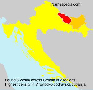 Surname Vaska in Croatia