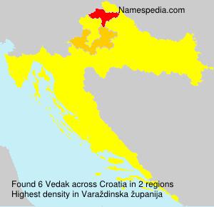 Familiennamen Vedak - Croatia