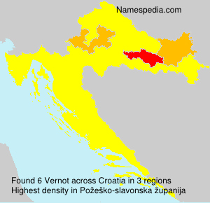 Familiennamen Vernot - Croatia