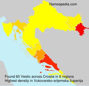 Surname Vestic in Croatia