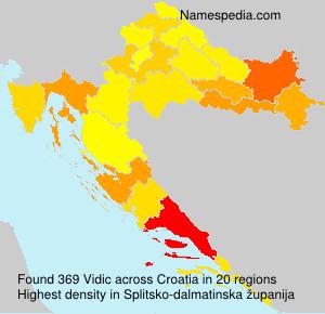 Surname Vidic in Croatia