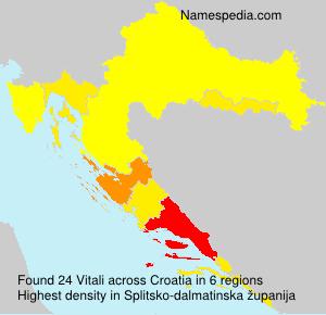 Familiennamen Vitali - Croatia