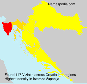 Surname Vizintin in Croatia
