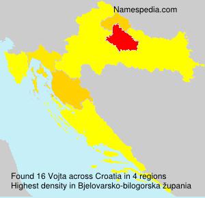 Surname Vojta in Croatia