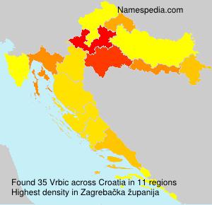 Surname Vrbic in Croatia