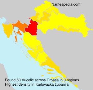 Surname Vucelic in Croatia