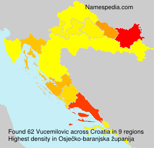 Surname Vucemilovic in Croatia