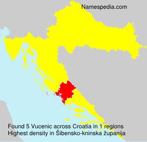 Surname Vucenic in Croatia