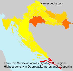 Surname Vucicevic in Croatia
