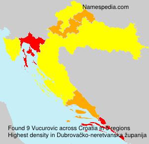 Surname Vucurovic in Croatia