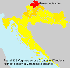 Surname Vugrinec in Croatia