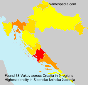 Surname Vukov in Croatia
