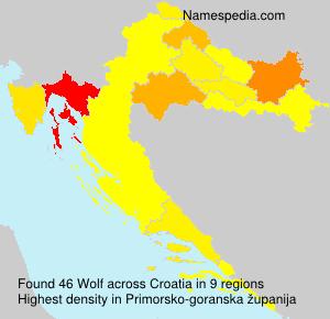 Familiennamen Wolf - Croatia