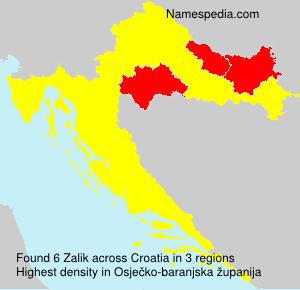 Familiennamen Zalik - Croatia