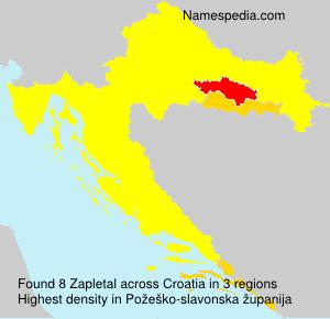 Surname Zapletal in Croatia