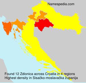 Familiennamen Zdionica - Croatia