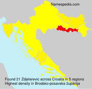 Surname Zdjelarevic in Croatia