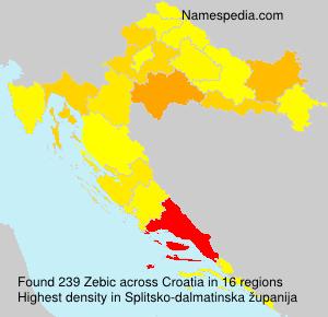 Surname Zebic in Croatia