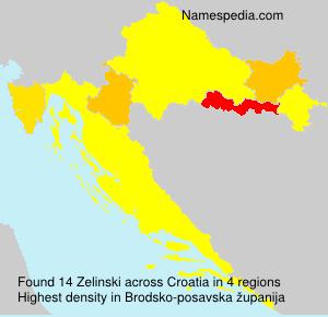 Familiennamen Zelinski - Croatia