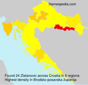 Familiennamen Zlatanovic - Croatia