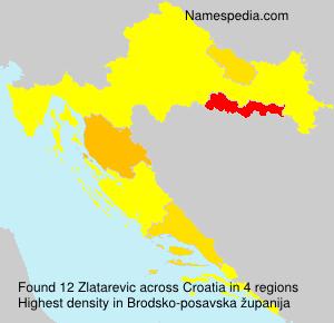 Familiennamen Zlatarevic - Croatia