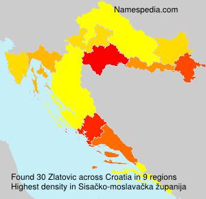 Surname Zlatovic in Croatia