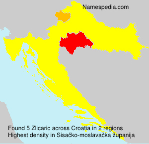 Familiennamen Zlicaric - Croatia