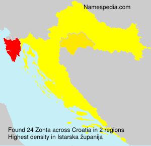 Surname Zonta in Croatia