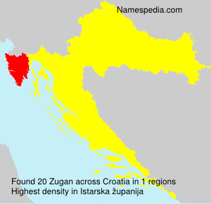 Surname Zugan in Croatia