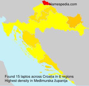 Familiennamen laptos - Croatia