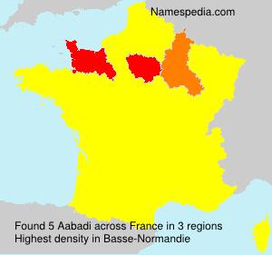 Familiennamen Aabadi - France