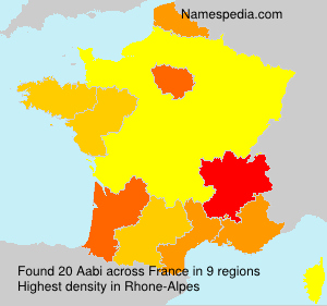 Surname Aabi in France