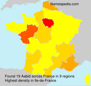 Surname Aabid in France