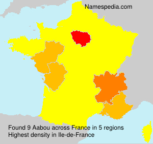Surname Aabou in France