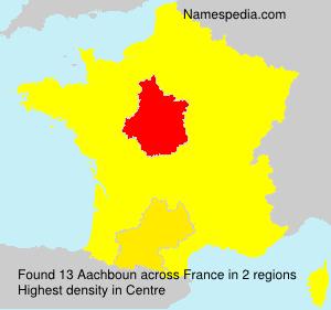 Familiennamen Aachboun - France