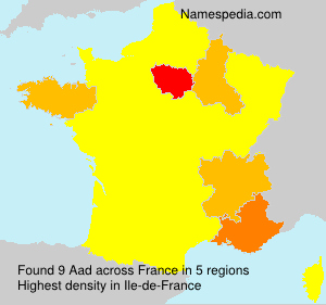 Surname Aad in France