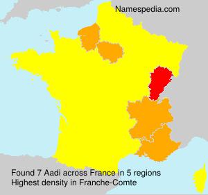 Familiennamen Aadi - France