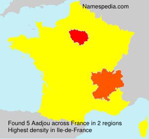 Familiennamen Aadjou - France