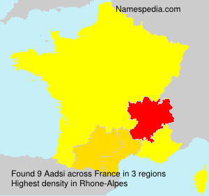 Surname Aadsi in France
