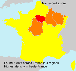 Surname Aafif in France