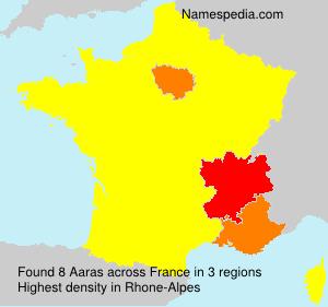 Surname Aaras in France