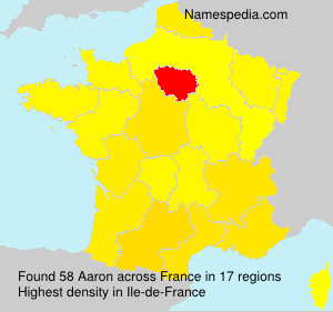 Surname Aaron in France