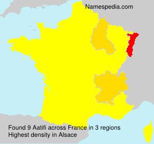 Surname Aatifi in France