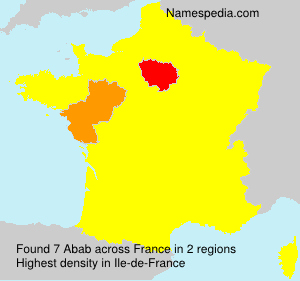 Surname Abab in France