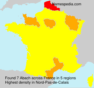 Surname Abach in France