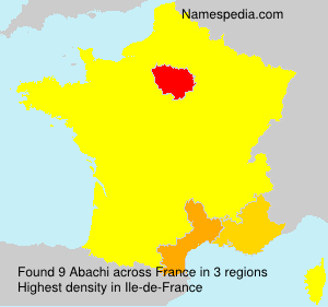 Surname Abachi in France